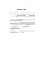 Borrower's Form